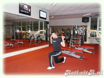 Barbell rear lunge