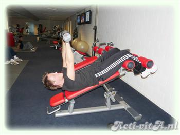 Dumbbell push crunch