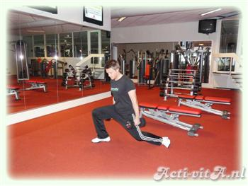 Dumbbell side lunge