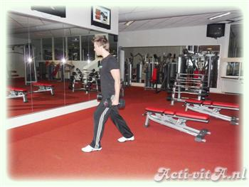Dumbbell split squat