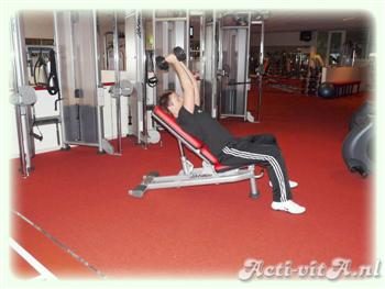 Incline Dumbbell lying triceps extension