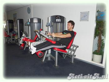 Machine seated leg curl